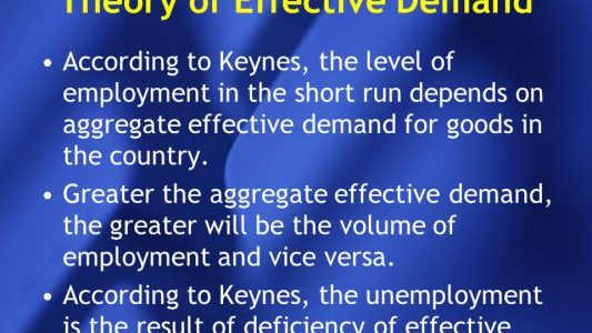 The Theory of Effective Demand - Keyne