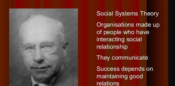 Barnard and social systems theory