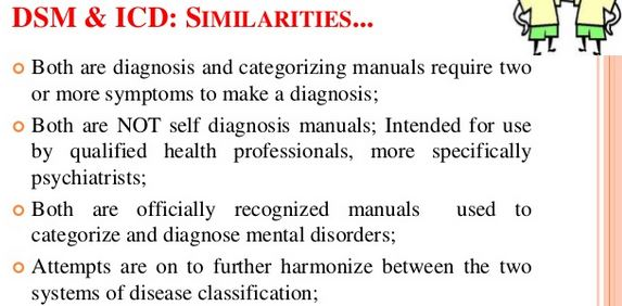 ICD vs DSM classification