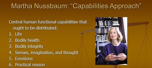 Martha Nussbaums capability theory of justice