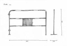 Barrières signalétiques - 4 unités Quai de Jemmapes
