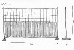 Clôture bardée + grille - 213 unités Boulevard de la Villette