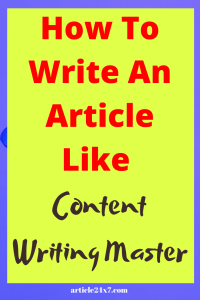 Content Writing Master