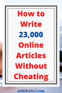 Write Online Articles