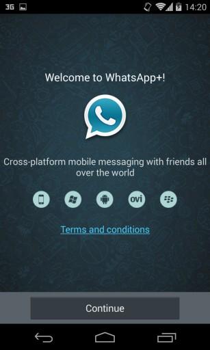 Tela principal do WhatsApp+