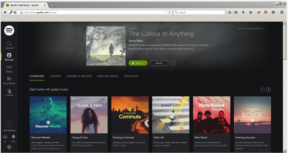 spotify-browser