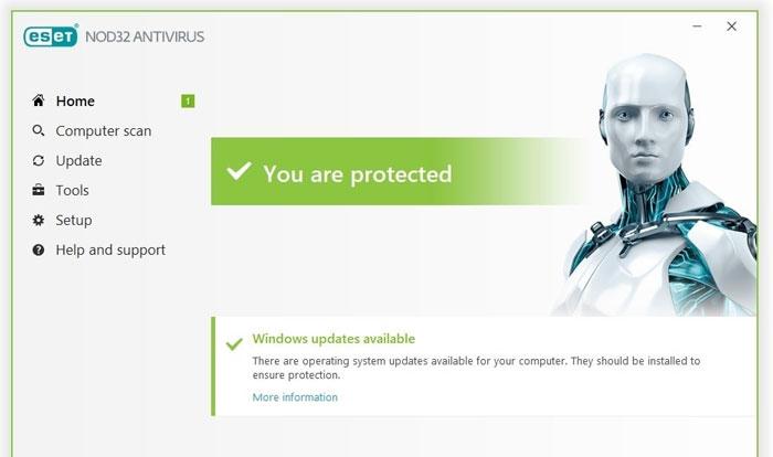 ESET-antivirus-interface