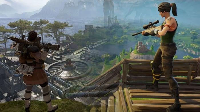 Fortnite Apex Legends مقارنة الرسومات