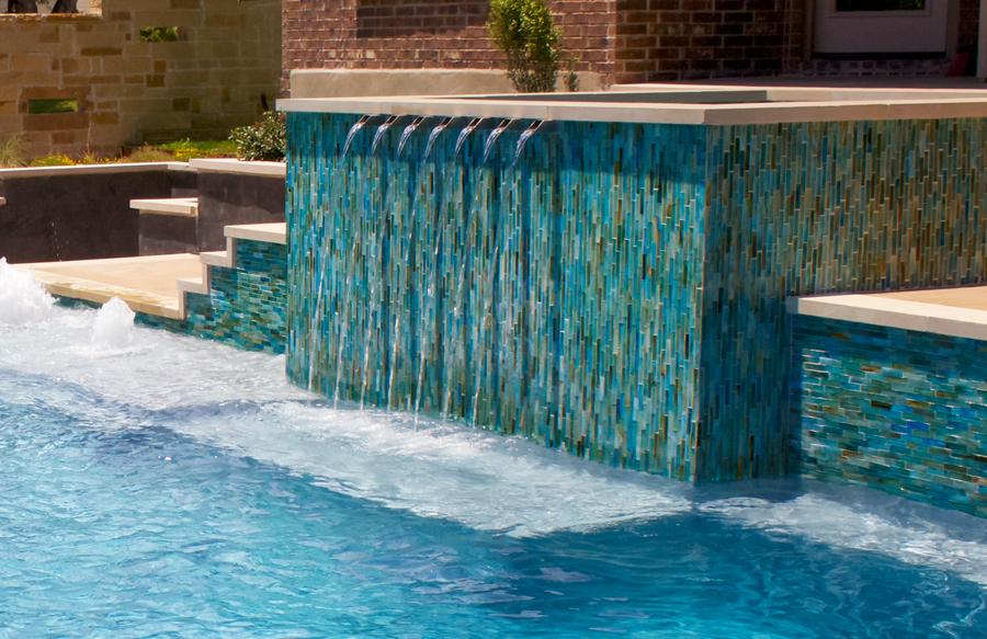waterline swimming pool tiles
