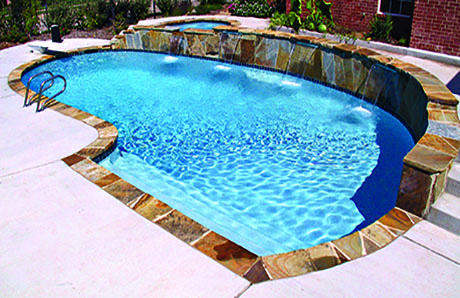 A polished colored quartz finish was used to give this tropical pool its brilliant aqua blue interior. Swimming Pool Plaster Problems Typical Causes For Common Issues