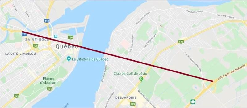 Tunnel entre Québec et Lévis - nouveau tracé envisagé