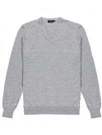 Light Grey V-neck