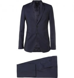 Paul Smith London Navy Kensington Slim-fit Pinstripe Cotton Suit