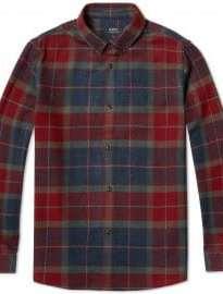 A.p.c. Button Down Check Shirt Multicolour