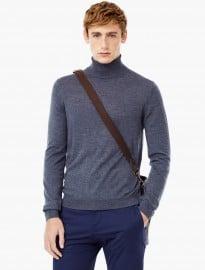 He By Mango Stand-collar Merino Wool Sweater