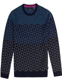 Ted Baker Bluwall Ombre Pattern Wool Jumper