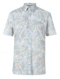 Autograph Luxury Pure Cotton Short Sleeve Floral Shirt