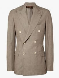 Loro Piana Unstructured Double-breasted Cotton Blazer
