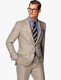 Suitsupply Lazio Light Brown Plain