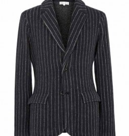 Reiss Ledbury Boiled Wool Blazer Navy