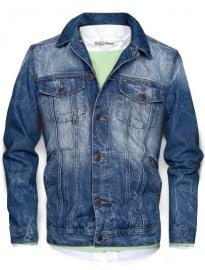 He By Mango Washed Denim Jacket