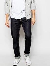 Nudie Jeans Steady Eddie Straight Fit Dry Compact Dark
