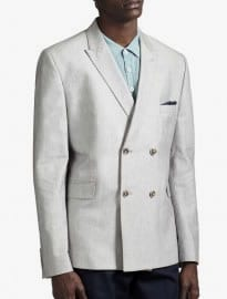 Burton Light Grey Double Breasted Blazer