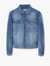 He By Mango Vintage Wash Denim Jacket