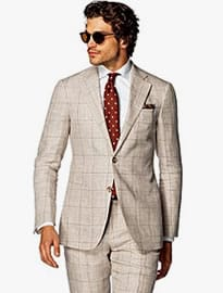 Suitsupply Hudson Light Brown Check