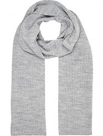 River Island Grey Knitted Scarf
