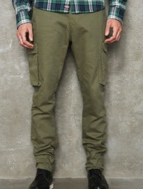 Dickies Olympia Olive Herringbone Trousers