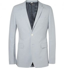 Burberry London Slim-fit Cotton And Linen-blend Suit Jacket