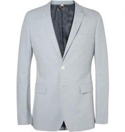 Burberry London Slim-fit Cotton And Linen-blend Suit Jacket