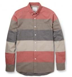 Saturdays Surf Nyc Crosby Slim-fit Striped Cotton-poplin Shirt