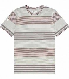Reiss Chingley Short Sleeve Stripe Crew Rose