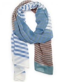 He By Mango Striped Foulard