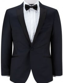 Austin Reed Slim Fit Navy Tuxedo Jacket