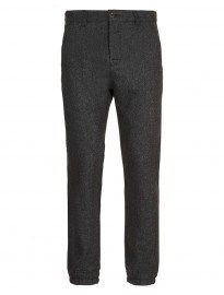 Topman Charcoal Wool Chino Joggers