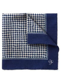 Mouchoir de poche en laine à carreaux CANALI