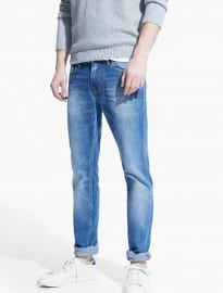 He By Mango Slim-fit Light Vintage Tim Jeans