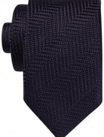 Austin Reed 7cm Navy Herringbone Silk Tie