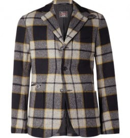 Woolrich Woolen Mills Plaid Wool-blend Blazer