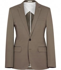 Reiss Pinot B Two Button Cotton Blazer Taupe