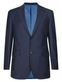 Luxury Sartorial New Pure New Wool 2 Button Herringbone Suit