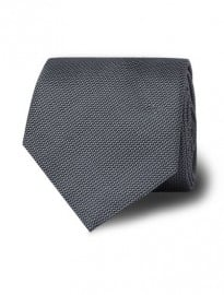 T.m.lewin Grey Textured Slim Silk Tie