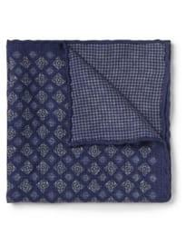 Brunello Cucinelli Pochette de costume en laine à motif double face