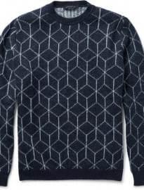 Christopher Kane Geometric-intarsia Knitted Sweater