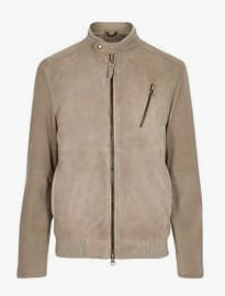 River Island Stone Holloway Road Suede Bomber
