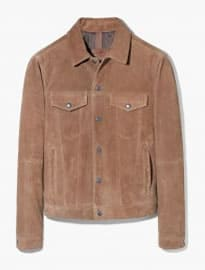 He By Mango Buttoned Suede Jacket