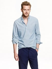 J. Crew Japanese Chambray Popover Shirt